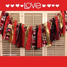 Vday fabric garland www.etsy.com/shop/queensbanners