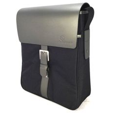 Recycled leather satchel in titanium - hardtofind.