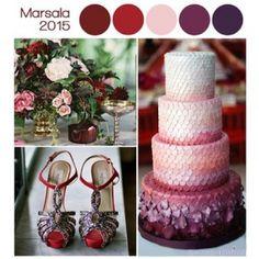 decoracion de fiestas color marsala - Buscar con Google