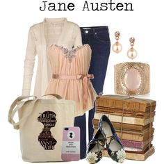 """Jane Austen"" by charlizard on Polyvore"
