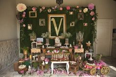 Kara's Party Ideas Vintage Enchanted Garden Birthday Party ...