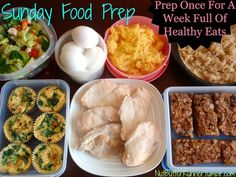 Prep once for a week full of healthy eats