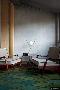 Super soft patterned wall treatment | Fusion Style Apartment of Nina Yashar, Nilufar Design Gallery Owner