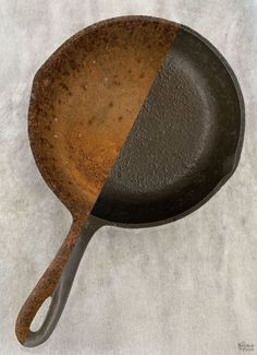 How to Restore a Cast Iron Pan   How to Season a Cast Iron Pan   How to remove rust from cast iron   The easy way to restore a pan   How to clean rusty cast iron   Easy rust remover   The right way to season a pan   Simple trick for removing rust from a cast iron pan   DIY Cast Iron Pan restoration   #TheNavagePatch #CastIron #RustRemoval #HowTo #Tutorial   TheNavagePatch.com How To Clean Rust, How To Remove Rust, How To Clean Iron, Cast Iron Grill Pan, Cast Iron Cooking, Cleaning Rusty Cast Iron, Restore Cast Iron, Seasoning Cast Iron, Homemade Cleaning Products