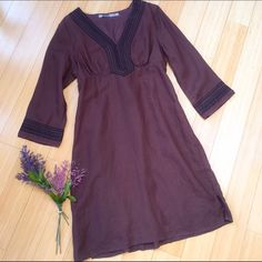 "ATHLETA linen dress, rich brown, medium. Ok, excuse the wrinkles please. Gorgeous linen dress by Athleta, sz medium. Rich chocolate color, great for summer into fall. Length is 39"". Athleta Dresses Midi"