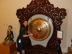 Musical Instrument Museum: Hitting the gong in the Experience Gallery