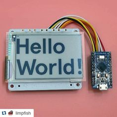 Something we loved from Instagram! #Repost @limpfish with @repostapp  Epaper! A nice display for my old weather/calendar thing. Works well on a pi zero and even on this little pro micro arduino clone. There are spi issues on the esp8266 though. #diyelectronics #arduino #raspberrypi #epaper #electricalengineering by oshlumh Check us out http://bit.ly/1KyLetq