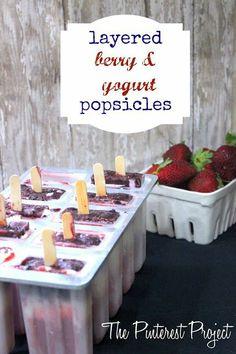 The Pinterest Project: Layered Berry & Yogurt Popsicles