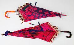 Umbrellas made from sari fabric!