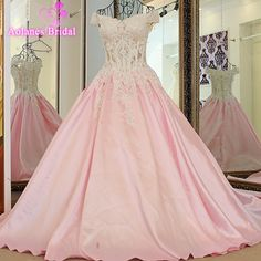 >> Click to Buy << Luxury 2017 Pink A Line Evening Dress with Crystal Beaded Evening Gowns Sleeveless Prom Dresses Lace Up Free Shipping Real Photo #Affiliate
