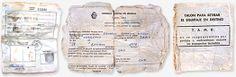Documentos de Eduardo Strauch y tarjeta para retirar equipaje encontrados 32 años después.