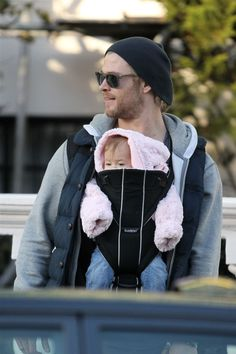 Chris Hemsworth and his baby. This is beyond adorable