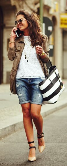 Striped Tote Styling by Fashion Hippie Loves