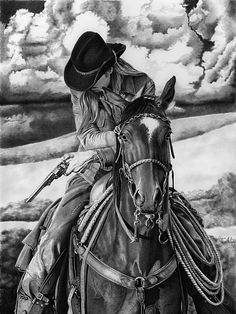 Outlaw Storm by Glynnis Miller Pencil ~ 24 x 18