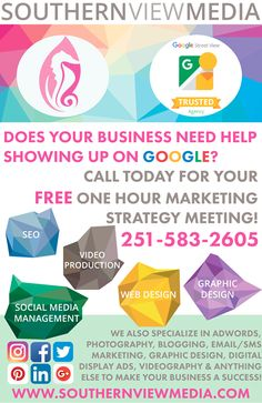 Want a FREE Marketing Strategy Meeting? We'd love to talk to you about how to accomplish your #marketing goals while providing an #ROI! For your complimentary #onehour consultation call us at 251-583-2605 or message us now :) #SVMtips #GulfCoast #Marketing