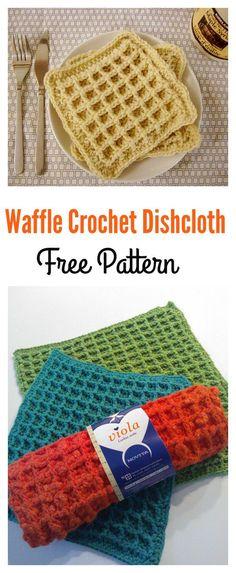 Waffle Crochet Dishcloth FREE Pattern