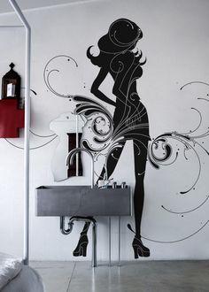 Czarno na białym – jak dekorować za pomocą naklejek ściennych