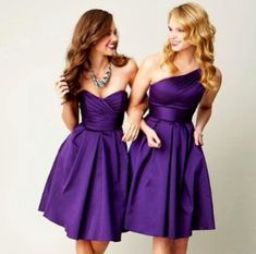 Purple wedding - bridesmaid dresses