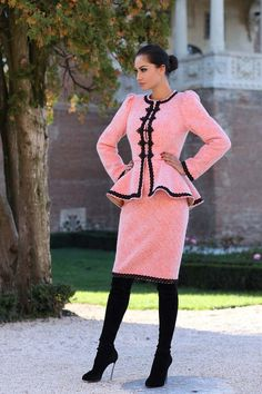 Sacou Stofa Dama Romanesc din lana - Stil Boho Gypsy, Coco Chanel, Sweaters, Pink, Clothes, Dresses, Fashion, Outfits, Vestidos