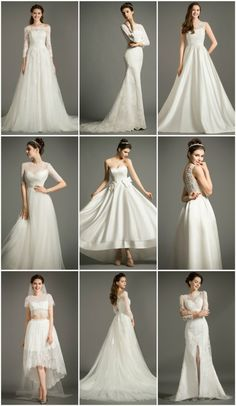 Classic Wedding Dresses in Various Style and Reasonable Price. Perfect for Older Bride, Plus Size Bride, Beach Wedding, Outdoor Wedding. Custom made-to-order Wedding dress by GemGrace. Multiple colors and all sizes available. Additional photos also available upon request.