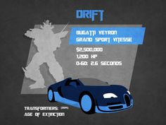 A profile of Drift from the new movie Transformers: Age of Extinction.