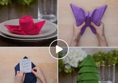 Apparecchiare la tavola con gusto – 10 mini tutorial per dare la piega giusta ai tovaglioli