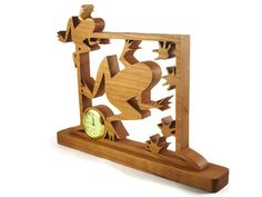 Frogs With Footprints Mini Desk Clock Handmade From by @kevskrafts
