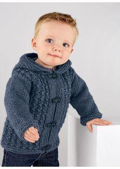 Crochet Baby Patterns Boy Yarns 49 Ideas For 2019 Boys Knitting Patterns Free, Baby Cardigan Knitting Pattern Free, Baby Hats Knitting, Knitting For Kids, Baby Patterns, Baby Boy Cardigan, Cardigan Bebe, Hooded Cardigan, Knit Baby Sweaters