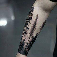 Masculine Guys Forearm Tree Tattoo Design Ideas