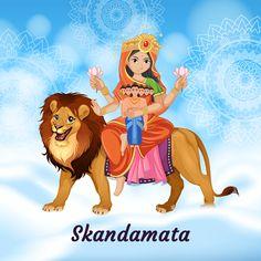 Maa Skandamata puja fifth day of navratri. Worship of Devi Skandamata brings prosperity and peace in life. know significance, story, puja vidhi at mPanchang. Durga Maa, Durga Goddess, Navratri Wallpaper, Happy Navratri Images, Navratri Festival, Durga Images, Lord Shiva Family, Navratri Special, Hindu Dharma
