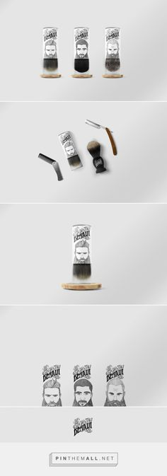 Be Beardy packaging design by Anwar Kurbanov and Kamila Mursalimova - http://www.packagingoftheworld.com/2017/10/be-beardy.html
