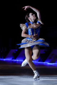 Sochi Winter Olympics champion Adelina Sotnikova of Russia performs during the 2016 'Amazing on Ice' at Capital Indoor Stadium on July 15, 2016 in Beijing, China.