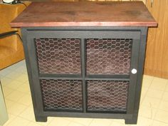 Primitive Kitchen Island...can be made with vintage windows or chicken wire if you have little ones:) $150.00...SOLD... but can take orders:)