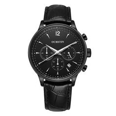 Cheap case brand, Buy Quality case fashion directly from China case case Suppliers: relogio masculino Men Fashion Chronograph Sport Watches Top Brand Quartz Watch Luxury Leather Watch 316 stainless case Mens Sport Watches, Mens Watches Leather, Luxury Watches For Men, Leather Men, Men's Watches, Fashion Watches, Black Watches, Casual Watches, Watches Online