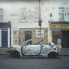 the riots in London - August 2011 #hackney #london #burned #car #riots #UK
