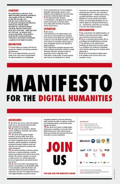 #manifesto for the #digitalhumanities