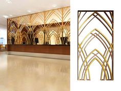 Gallery for the design of laser cut screens to show the design style and product effect of the laser cut metal screens made by stainless steel.