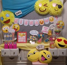 Check out this fun emoji birthday party! See more party ideas at CatchMyParty.com!