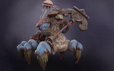 ArtStation - Dragon Crab Boss, Philip Hjorth