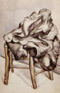Jacket on a Chair - Paul Cézanne