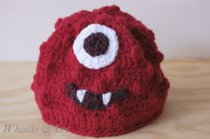 Whistle and Ivy: Muno Hat Pattern... Or make it Elmo :)