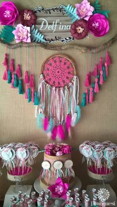 Quinceanera Party Planning – 5 Secrets For Having The Best Mexican Birthday Party Bolo Hippie, 3rd Birthday Parties, Girl Birthday, Birthday Ideas, Baby Shower Boho, Bridal Shower, Teenager Party, Decoration Photo, Teepee Party