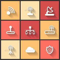 Vector Design Flat Icons  #GraphicRiver         Vector design flat icons for web and