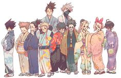 They're so cute!! And I love the disigns on their kimonos! It really suits them.
