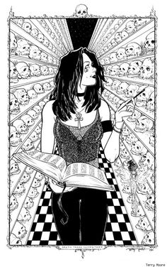 Death, by Terry Moore - reminds me of the catacombs in Lima