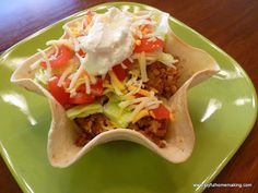 """Last week when I was checking out at the store with my groceries, I saw this """"As Seen On TV"""" Tortilla pan. Now when we eat out and get Mexican, I frequently order a taco salad because I enjoy nibbl..."""