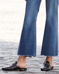 7951a9924b0 Gucci Princetown Leather Horsebit Mule Slipper Flat