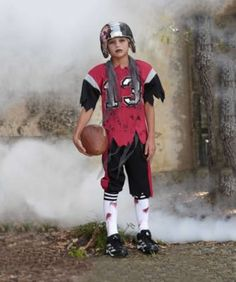 Zombie Football Player Costume for Boys   Chasing Fireflies