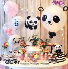 Fiesta panda lo de hoy, los unicornios son reemplazados por osito panda Panda Party, Panda Themed Party, Panda Birthday Party, Bear Party, Baby Birthday, Birthday Parties, Birthday Ideas, Panda Baby Showers, Panda Decorations