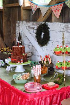 Woodland Themed Dessert Buffet